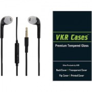 lenovo Zuk Z2 Pro tempered glass screen protector and Black Head phone by vkr cases