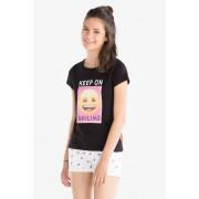 Emoji-T-shirt met korte mouwen
