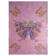 Quick Dry Bed Protector Printed - 623 S Pink