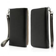 GadgetBay Etui portefeuille universel pour smartphone Etui portefeuille - Noir