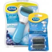 Scholl Velvet Smooth pila electronica pentru calcaie + 2 capete de schimb