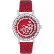 Laurels Beautiful Analog Red Dial Womens Watch - Lo-Bea-103