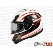 Helm Type: Racing Kleur: Wit Oranje Maat: S Met E-