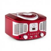 Auna RCD320, retró CD lejátszó, FM, AUX, piros (MISM1-RCD320 RED)