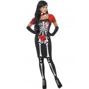 Costum haloween adulti femei schelet elegant