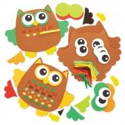 Baker Ross Owl Weaving Kits - 6 Weaving Cards For Kids. Owl Crafts. Size 16cm.