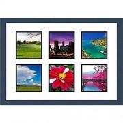 """Frames by Mail multimat-58728108Seis Cuadrado Apertura Collage Marco para fotografías de 3.5"""" x 5"""", Color Azul Marino"""