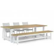 Lifestyle Garden Furniture Lifestyle Brandon/Los Angeles 260 cm dining tuinset 5-delig