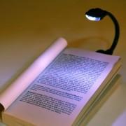 EW Mini Clip Flexible En Brillante Luz Del Libro Laptop LED Lampara De Luz De Lectura