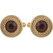 Tripin Brass Cufflink(Gold, Brown)