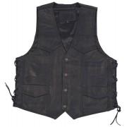 Modeka 1653 Leather Vest Black XL