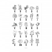 Bloomingville Alphabet Poster 50x70 cm