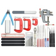 BXQINLENX BXQINLENX Professional 23 PCS Gundam Modeler Basic Tools Craft Set For Car Airplane Building Model Assemble Building or Any Other DIY Works