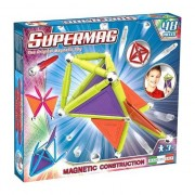 Set de constructie magnetic Supermag - Trendy, 48 piese
