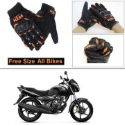 AutoStark Gloves KTM Bike Riding Gloves Orange and Black Riding Gloves Free Size For Honda CB Unicorn
