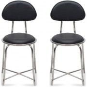 Fabsy Interior - Budget Visitor Chair In Black By Fabsy Interiors (Set Of 2 Pcs.)