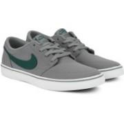Nike SB PORTMORE II SOLAR CNVS Sneakers For Men(Grey, Green)
