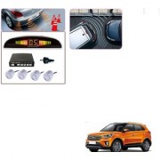Auto Addict Car Silver Reverse Parking Sensor With LED Display For Hyundai Creta