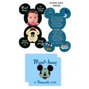 Invitatie Glossy Mickey
