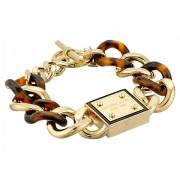 Michael Kors Resort Curb Chain Logo Plaque Bracelet TortoiseGold