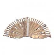 Fényes gömb lampion, ezüst, 25 cm