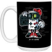 Game Kid - Gaming Art - 15 oz. White Mug - 149