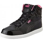 Puma Women's Ikaz Mid Dots Puma Black Sneakers - 5 UK/India (38 EU)