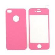 Цветен преден и заден протектор за Apple iPhone 4G/4S Розов
