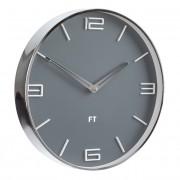 Future Time Ceas de perete Flat grey FT3010GY