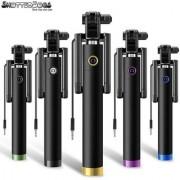Shutterbugs 27 SB Selfie Stick Monopod With Easy Aux Selfie Stick (Black)(Assorted)