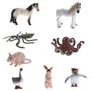 MagiDeal 8Pcs Plastic Wild Farm Zoo Ocean Animal Figure Octopus Mantis Mouse Rabbit Horse Model Figurines Baby Preschool Toys Lovely Animal Toys for Children Birthday Gifts Home Decors