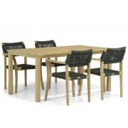 Lifestyle Garden Furniture Lifestyle Dallas/Weston 160 cm dining tuinset 5-delig