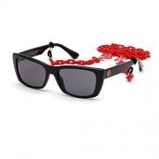 GUESS Women's Gradient Gu7652 GU7652-01A-53 Black Rectangle Sunglasses
