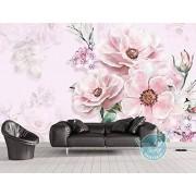 WallpaperxMural Papel Pintado Para Pared 3D Mural Personalizado Rosas Pintadas A Mano Hd Papel Tapiz de Pared Para Sala De Estar Dormitorio Murales 400cmX280cm