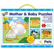 GALT - SET 4 PUZZLE-URI MAMA SI PUIUL - ANIMALE DOMESTICE - (1004858)
