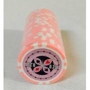 Set 25 jetoane poker ABS 11 5 gr model Ultimate inscr. 0 25