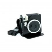 [Fuji Instax Mini 90] --Protección Completa Cámara Fujifilm Instax Caso Bolsa Para Mini 90 Neo Clásica Cámara De Película Instantánea Con PU Suave Material De Cuero MULBA M80 Black