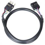 Cablu prelungitor audio intern Akasa EXAUDI-40, 40cm, negru