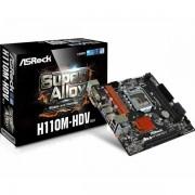 Asrock Intel 1151 Socket (mATX) MB ASR-H110M-HDV R3.0-RMA