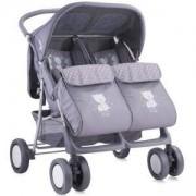 Детска количка за близнаци Lorelli TWIN GreyFriends 2016, 10020071645