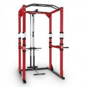 Tremendour Pl Power Rack Polia Estrutura Aço Ginásio Musculação Vermelho Branco