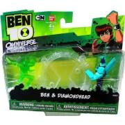Ben 10 Omniverse Mini Figures Ben & Diamondhead 2 Pack, 2 Inch