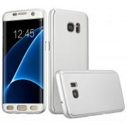 Husa Full Cover 360 (fata spate) pentru Samsung Galaxy S7 Edge Silver