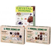 Geo Mysteries Rock & Mineral Kit With Crystal Mining Set