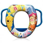 Reductor moale pentru toaleta, Disney, cu manere, Winnie the Pooh Blue