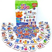 Little World Magnetic Letters And Numbers For Toddlers 87 Pcs - Alphabet Magnets Fridge Letter Kids Refrigerator Baby