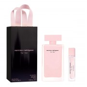 NARCISO RODRIGUEZ FOR HER EAU DE PARFUM 100ML VAPORIZADOR + EAU DE PARFUM PURSE SPRAY 10ML VAPORIZADOR