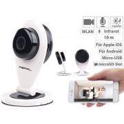 Pearl HD-IP-Kamera mit Bewegungserkennung, IR-Nachtsicht & microSD-Aufnahme