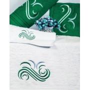 Set de 6 prosoape baie Valentini Bianco Green
