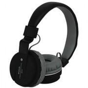 SH 12 Bluetooth Headphone FM and SD Card Slot and Music Calling Bluetooth Headset with Mic (Black In the Ear)